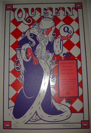 Poster - Queen in Cleveland on 25.11.1978 - special print (limited edition)