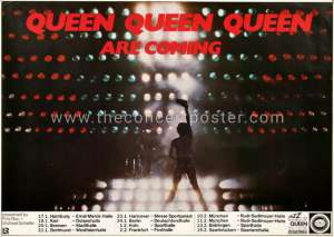 Poster - Queen in Germany in January and February 1979