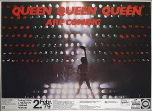 Poster - Queen in Frankfurt on 02.02.1979