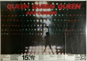 Poster - Queen in Saarbrucken on 15.02.1979