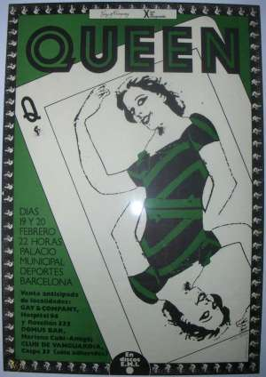 Poster - Queen in Barcelona in February 1979