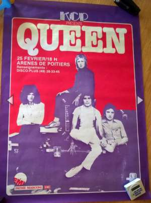 Poster - Queen in Poitiers on 25.02.1979
