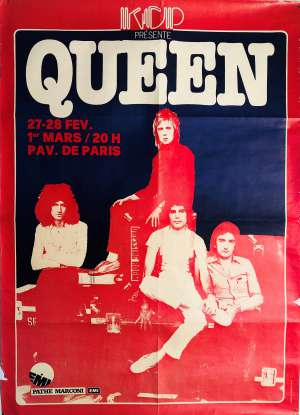Poster - Queen in Paris 1979