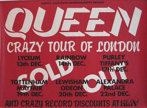 Poster - Queen in London in December 1979