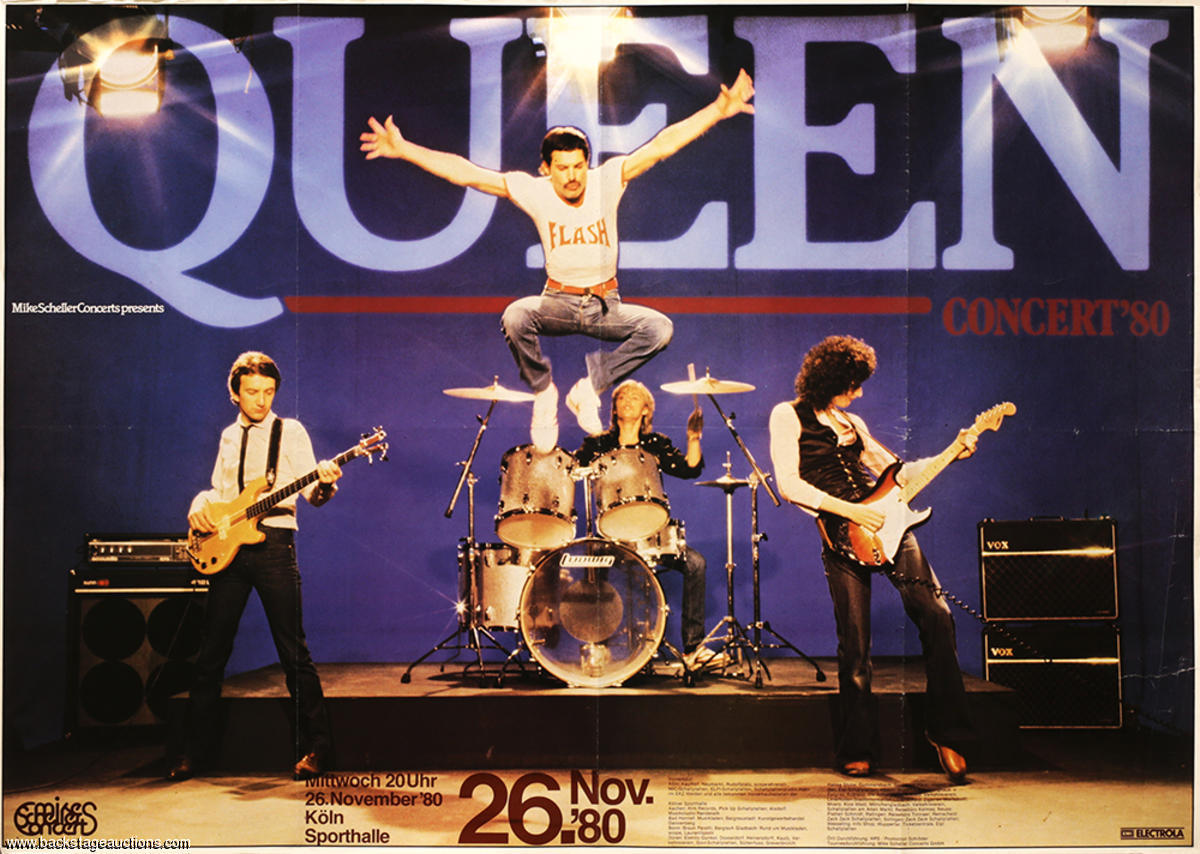 Queen in Cologne on 26.11.1980