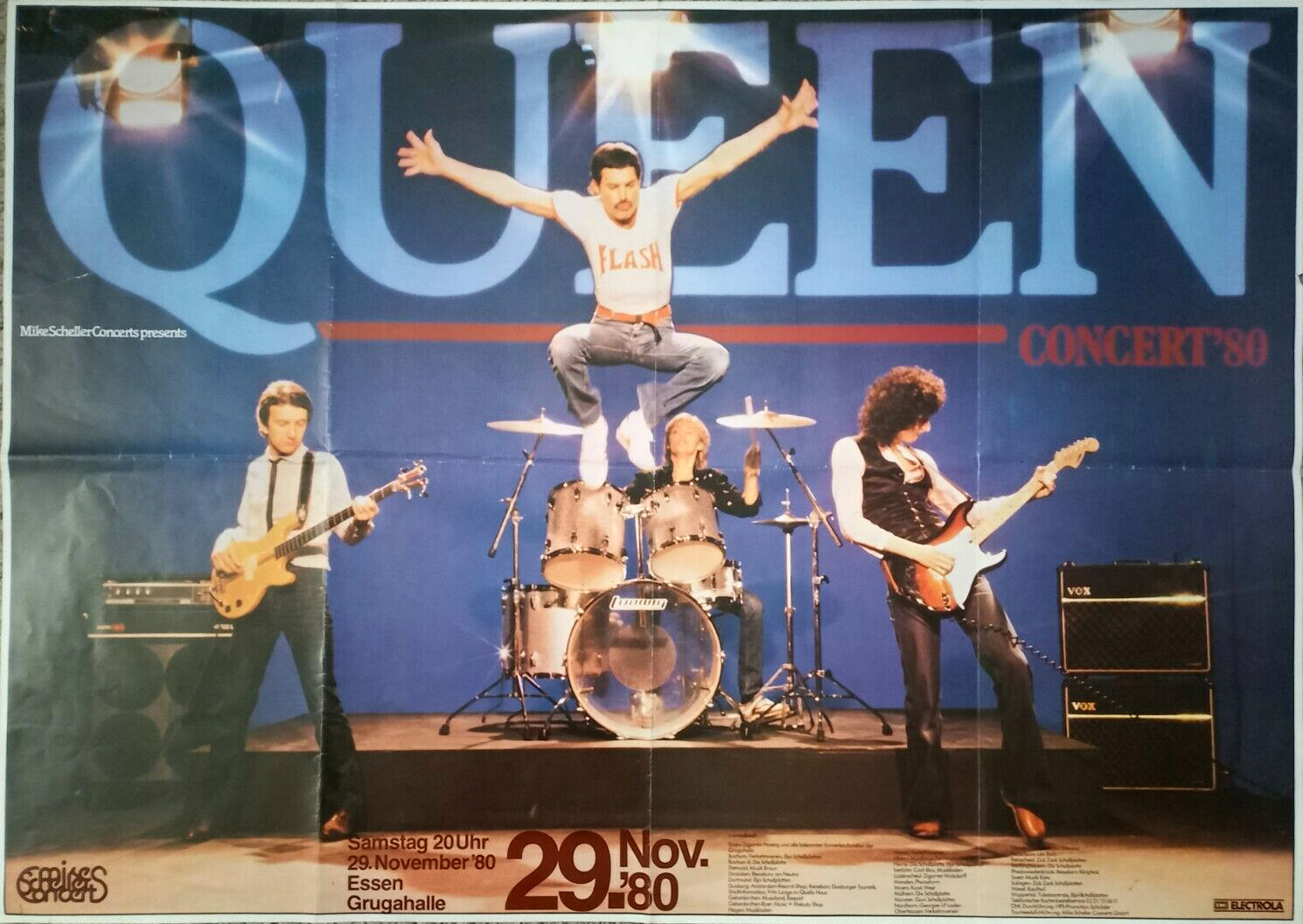 Queen in Essen on 29.11.1980