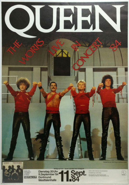 Queen in Dortmund on 12.09.1984 (wrong date)