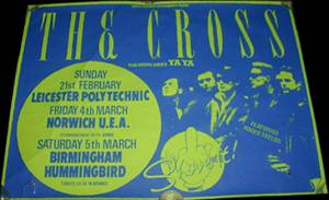 Poster - The Cross in Leicester on 21.02.1988