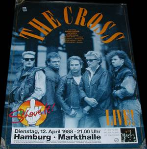 Poster - The Cross in Hamburg on 12.04.1988