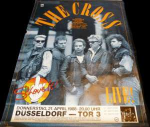 Poster - The Cross in Düsseldorf on 21.04.1988
