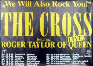 Poster - The Cross on tour in Germany in April 1988
