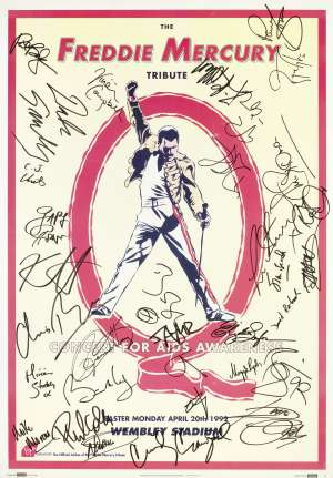 Poster - FM Tribute in London on 20.04.1992