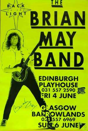 Poster - Brian May in Edinburgh in 1993
