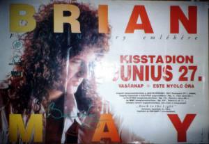 Poster - Brian May in Budapest on 27.06.1993