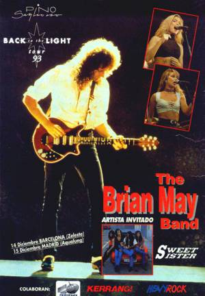 Poster - Brian May in Spain on 14.-15.12.1993