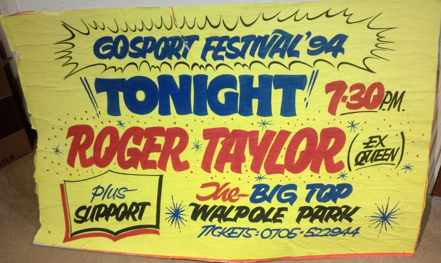 Roger Taylor at the Gosport festival on 28.07.1994