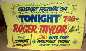 Poster - Roger Taylor at the Gosport festival on 28.07.1994