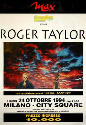 Poster - Roger Taylor in Milan on 24.10.1994