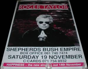Poster - Roger Taylor in London on 19.11.1994