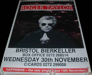 Poster - Roger Taylor in Bristol on 30.11.1994