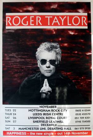 Poster - Roger Taylor in the UK in 1994