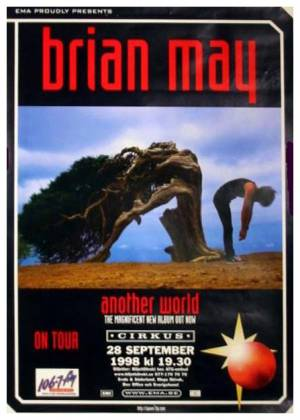Poster - Brian May in Stockholm on 28.09.1998