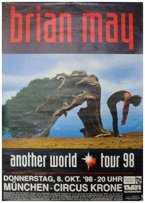 Poster - Brian May in Munich on 08.10.1998