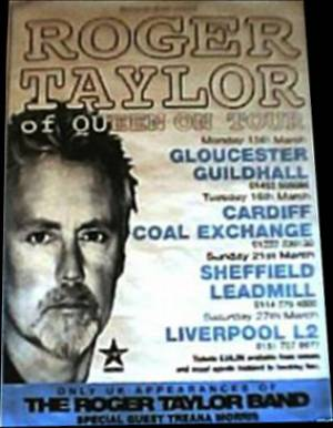Poster - Roger Taylor in the UK in March 1999