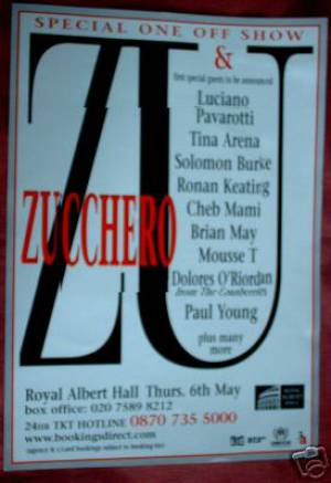Poster - Zucchero with Brian May in London on 06.05.2004