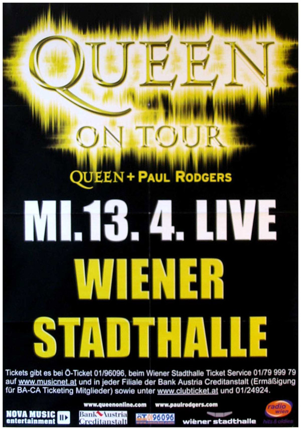Queen + Paul Rodgers in Vienna on 13.04.2005