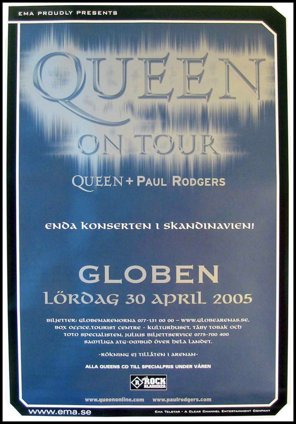 Queen + Paul Rodgers in Stockholm on 30.04.2005