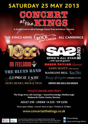 Poster - Roger Taylor with SAS Band in All Cannings on 25.05.2013