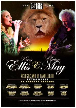 Poster - Brian May on tour with Kerry Ellis in June 2013