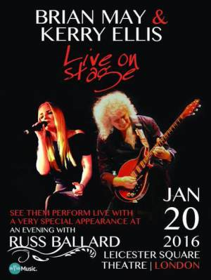 Poster - Brian May with Kerry Ellis in London on 20.01.2016