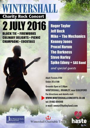 Poster - Roger Taylor with SAS Band in Wintershall on 02.07.2016