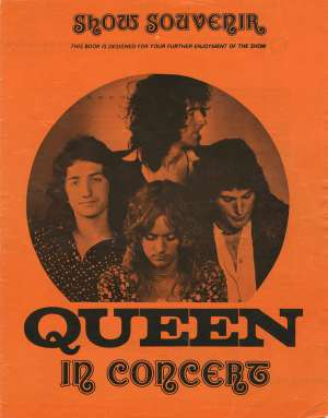 Early Queen show souvenir - orange without photo (UK)