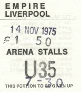 Ticket stub - Queen live at the Empire Theatre, Liverpool, UK [14.11.1975]