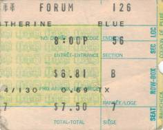 Ticket stub - Queen live at the Forum, Montreal, Canada [26.01.1977]