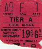Ticket stub - Queen live at the Cobo Hall, Detroit, MI, USA [19.11.1977]