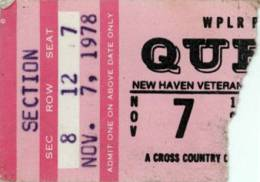 Ticket stub - Queen live at the Coliseum, New Haven, CT, USA [07.11.1978]