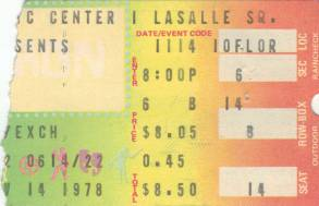 Ticket stub - Queen live at the Rhode Island Civic Centre, Providence, RI, USA [14.11.1978]