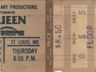 Ticket stub - Queen live at the Checkerdome, St. Louis, MO, USA [23.11.1978]