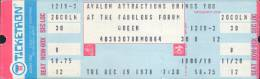 Ticket stub - Queen live at the Forum, Inglewood, CA, USA [19.12.1978]