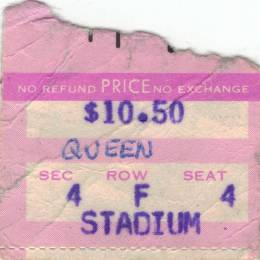 Ticket stub - Queen live at the Garden, Boston, MA, USA [26.09.1980]