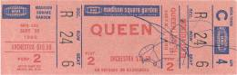 Ticket stub - Queen live at the Madison Square Garden, New York, NY, USA [29.09.1980]