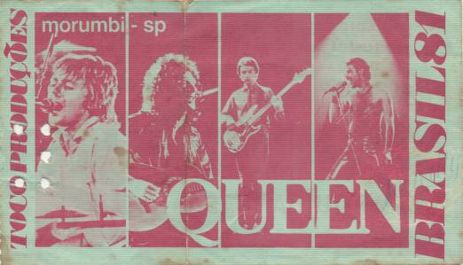 Ticket stub - Queen live at the Estádio do Morumbi, Sao Paulo, Brazil [20.03.1981]