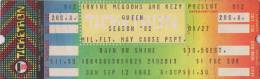 Ticket stub - Queen live at the Irvine Meadows, Irvine, CA, USA [12.09.1982]
