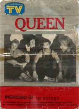 Ticket stub - Queen live at the Sportspalace, Milan, Italy [15.09.1984]