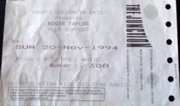 Ticket stub - Roger Taylor live at the The Junction, Cambridge, UK [20.11.1994]