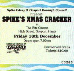 Ticket stub - Roger Taylor live at the Ritz Cinema, Gosport, UK (with SAS Band) [16.12.1994]